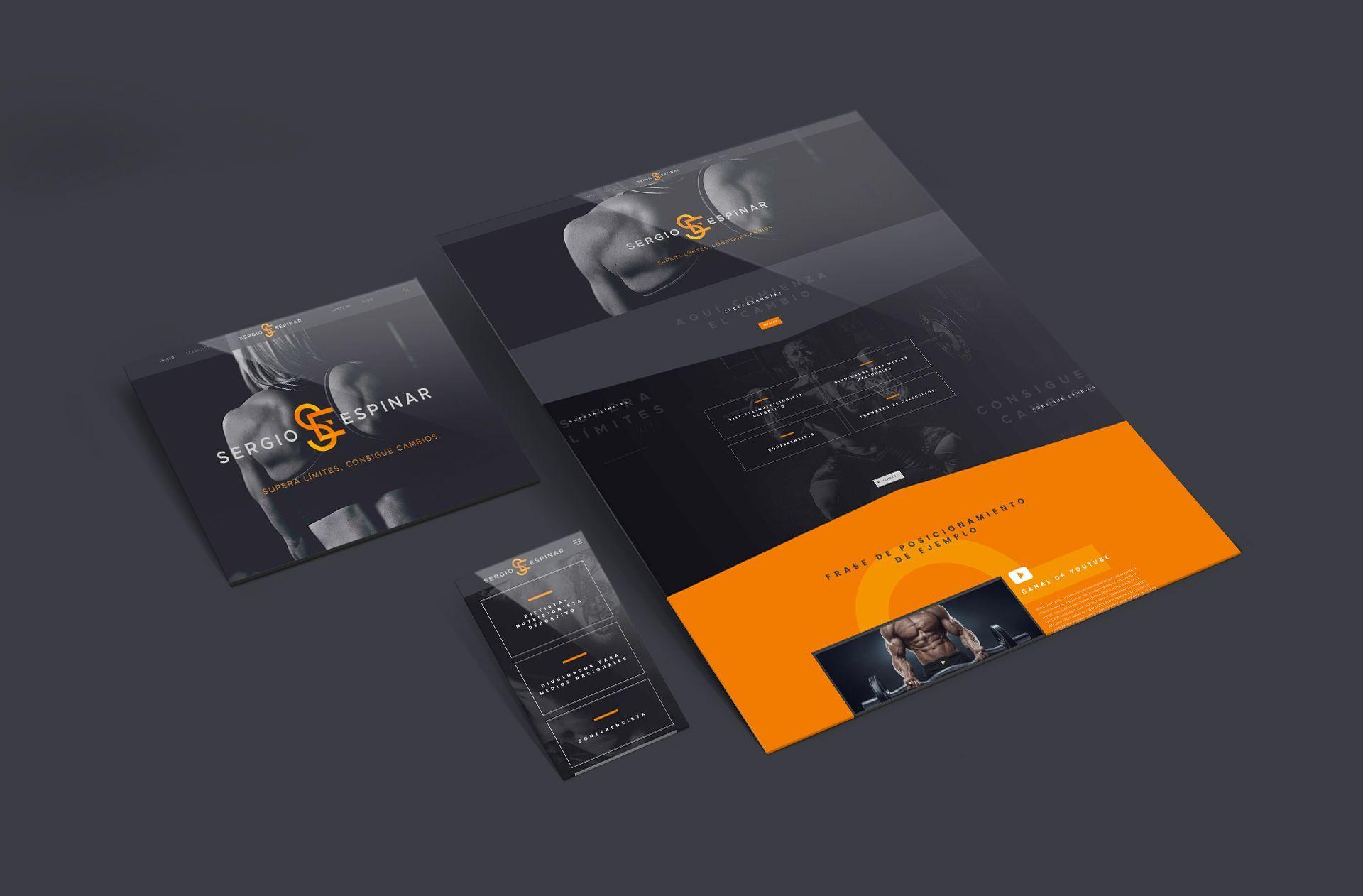 Diseño web responsive para Sergio Espinar, nutricionista deportivo