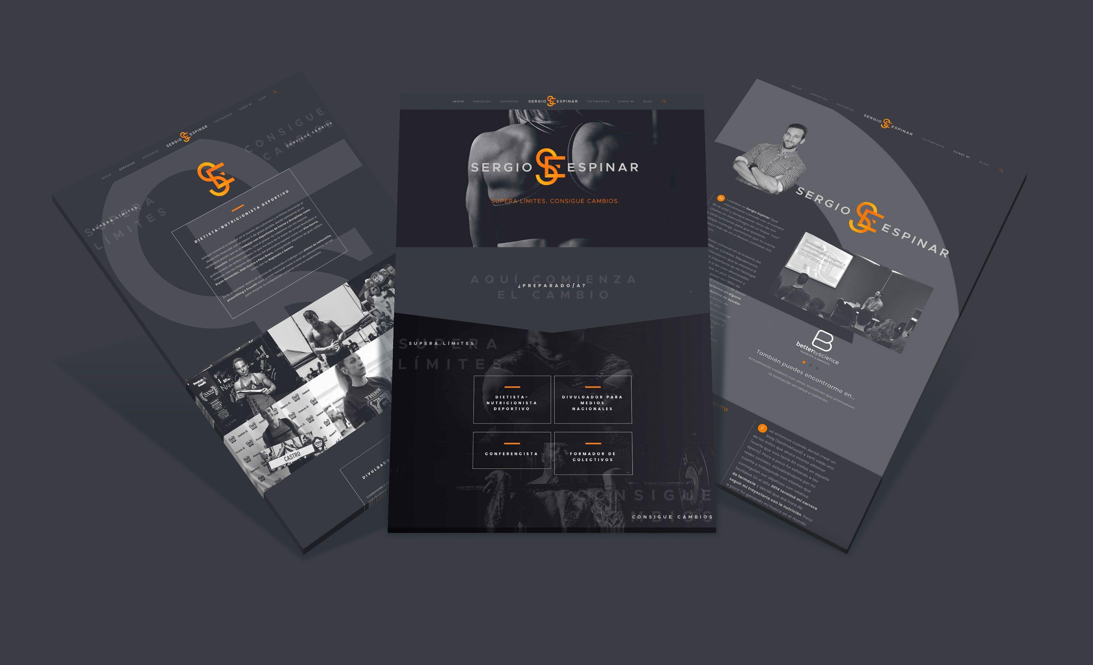 Diseño web Sergio Espinar nutricionista deportivo